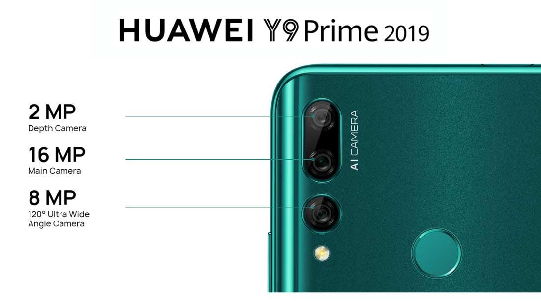 دوربین پشت گوشی هواوی y9 prime 2019