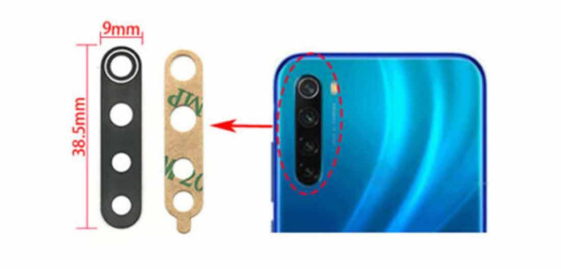 تعویضشیشه دوربین شیائومی Redmi Note 8