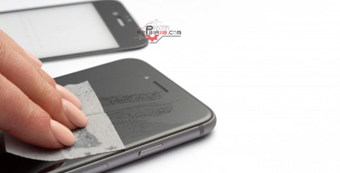 روش های پاک کردن چسب گلس از روی ال سی دی گوشی